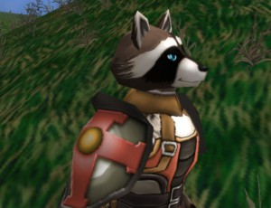 "A ""Bandicoon"" in armor."