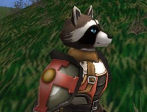 "A ""Bandicoon"" in armor."