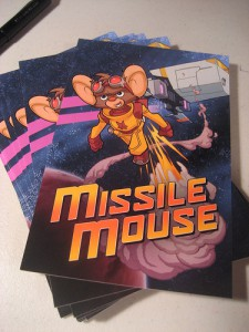 Missile Mouse, the postcard